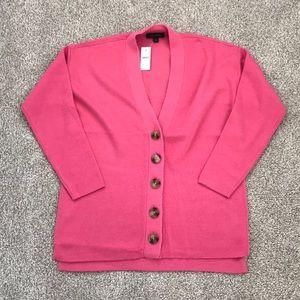 New Ann Taylor pink cardigan